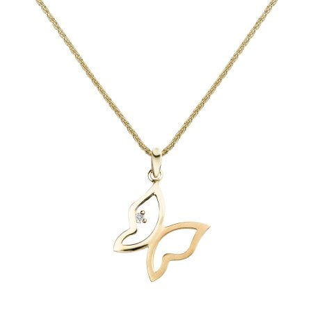 Juwelier Kraemer Kette Diamant 375/ - Gold – ca. 0,01 ct
