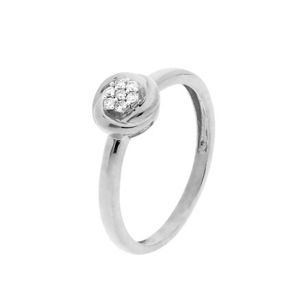 Juwelier Kraemer Ring Diamant 333/ - Gold – zus. ca. 0,07 ct – 56 mm