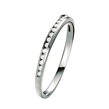 Juwelier Kraemer Ring Diamant 333/ - Gold – zus. ca. 0,10 ct – 52 mm
