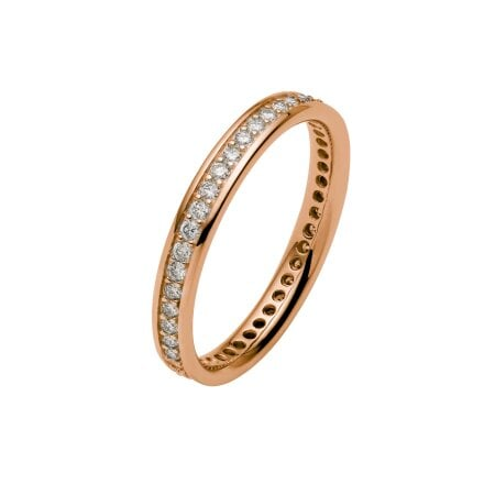 Juwelier Kraemer Trauring Diamant 585/ - Gold – zus. ca. 0,45 ct – 52 mm