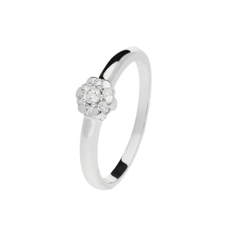 Juwelier Kraemer Ring Diamant 585/ - Gold – zus. ca. 0,10 ct – 52 mm