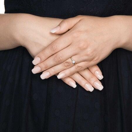 Juwelier Kraemer Ring Diamant 585/ - Gold – zus. ca. 0,10 ct – 54 mm