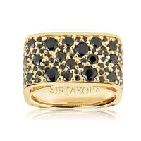 Sif Jakobs Ring Zirkonia Novara Quadrato – SJ-R1060-BK-YG