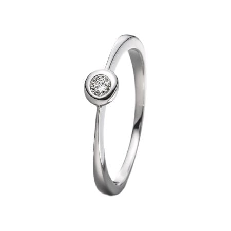 Juwelier Kraemer Ring Diamant 333/ - Gold – ca. 0,08 ct – 54 mm