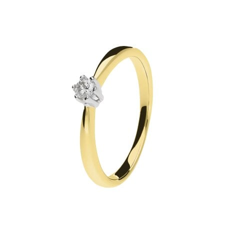Juwelier Kraemer Ring Diamant 333/ - Gold – ca. 0,08 ct – 54 mm