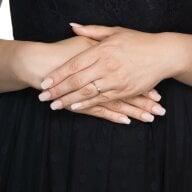 Juwelier Kraemer Ring Diamant 333/ - Gold – ca. 0,08 ct – 52 mm