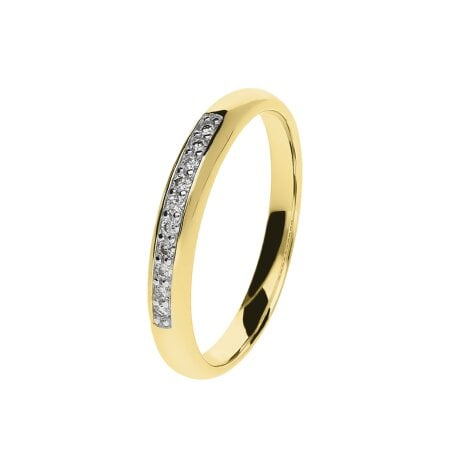 Juwelier Kraemer Ring Diamant 333/ - Gold – zus. ca. 0,10 ct – 56 mm