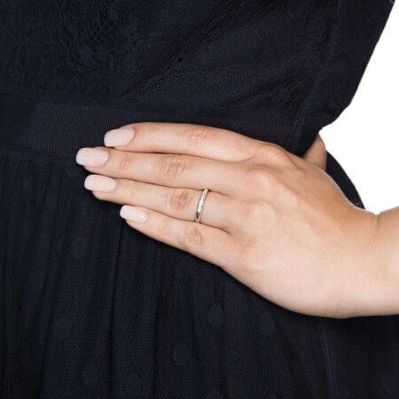 Juwelier Kraemer Ring Diamant 333/ - Gold – zus. ca. 0,10 ct – 52 mm