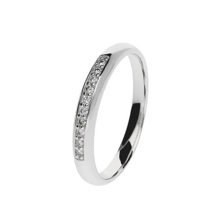 Juwelier Kraemer Ring Diamant 333/ - Gold – zus. ca. 0,10 ct – 54 mm