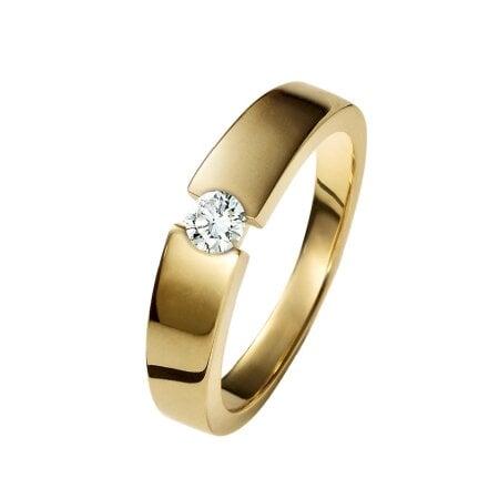 Juwelier Kraemer Ring Diamant 585/ - Gold – ca. 0,13 ct – 54 mm