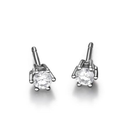 Juwelier Kraemer Ohrringe Diamant 585/ - Gold – zus. ca. 0,18 ct