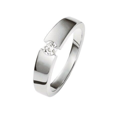 Juwelier Kraemer Ring Diamant 585/ - Gold – ca. 0,13 ct – 56 mm
