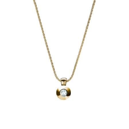Juwelier Kraemer Kette Diamant 375/ - Gold – ca. 0,08 ct