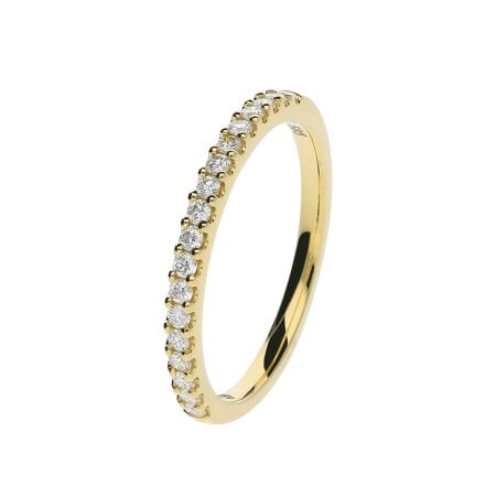 Juwelier Kraemer Ring Diamant 585/ - Gold – zus. ca. 0,25 ct – 52 mm