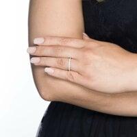 Juwelier Kraemer Ring Diamant 585/ - Gold – zus. ca. 0,25 ct – 52 mm