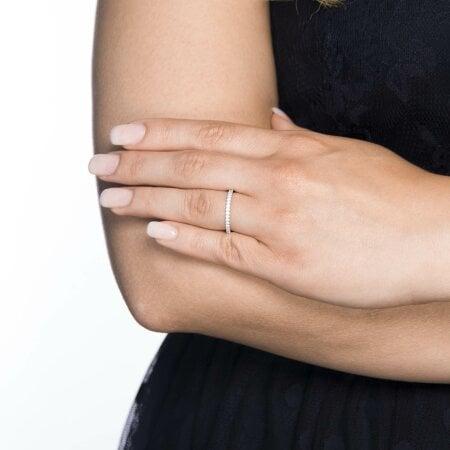 Juwelier Kraemer Ring Diamant 585/ - Gold – zus. ca. 0,25 ct – 56 mm