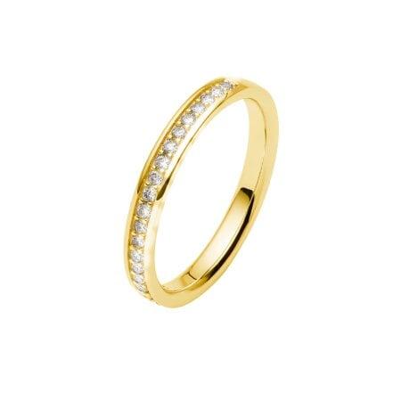 Juwelier Kraemer Trauring Diamant 585/ - Gold – zus. ca. 0,20 ct – 55 mm