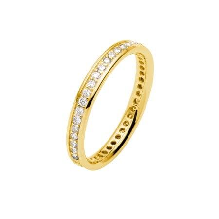 Juwelier Kraemer Trauring Diamant 585/ - Gold – zus. ca. 0,45 ct – 56 mm