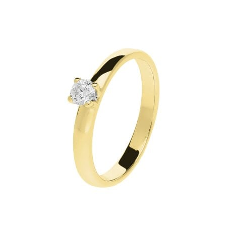 Juwelier Kraemer Ring Diamant 585/ - Gold – ca. 0,18 ct – 52 mm