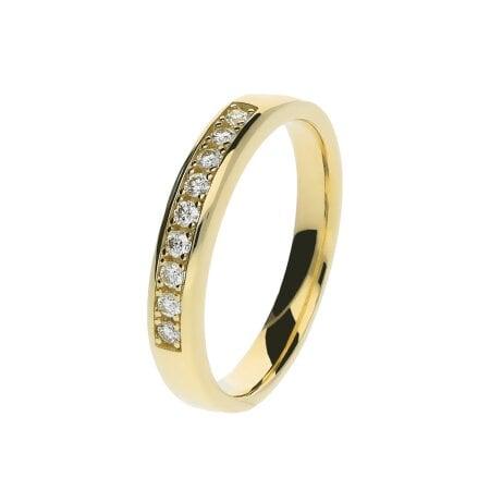 Juwelier Kraemer Ring Diamant 585/ - Gold – zus. ca. 0,15 ct – 52 mm