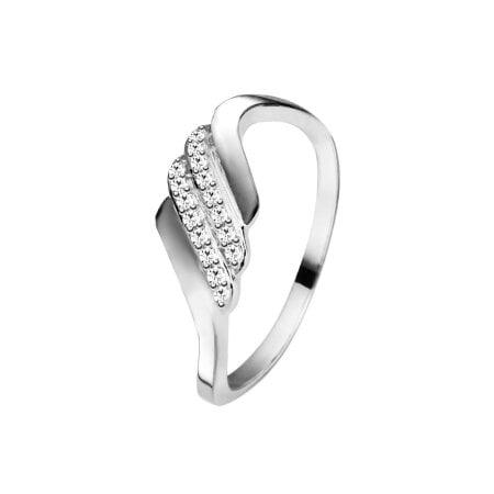 Juwelier Kraemer Ring Diamant 375/ - Gold – zus. ca. 0,10 ct – 56 mm