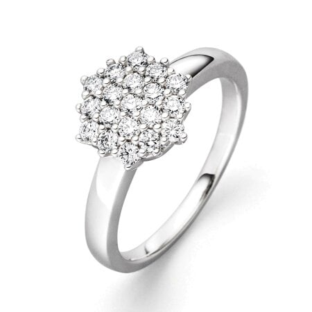 Juwelier Kraemer Ring Diamant 585/ - Gold – zus. ca. 0,50 ct – 54 mm