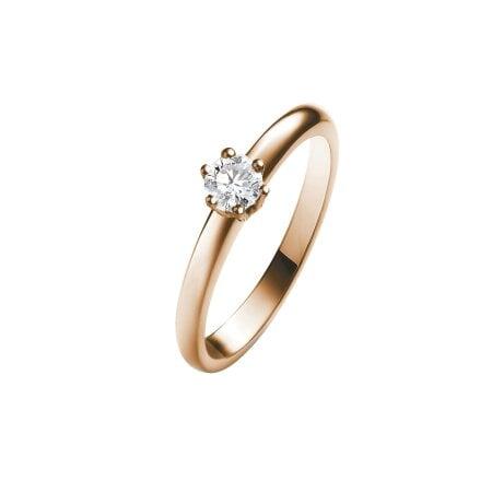 Juwelier Kraemer Ring Diamant 585/ - Gold – ca. 0,17 ct – 56 mm