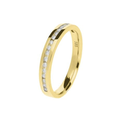 Juwelier Kraemer Ring Diamant 585/ - Gold – zus. ca. 0,15 ct – 52 mm