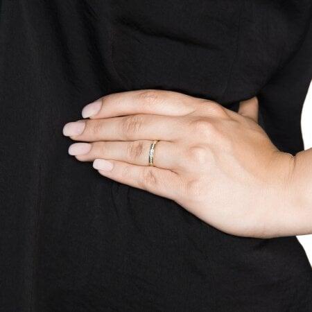 Juwelier Kraemer Ring Diamant 585/ - Gold – zus. ca. 0,15 ct – 54 mm