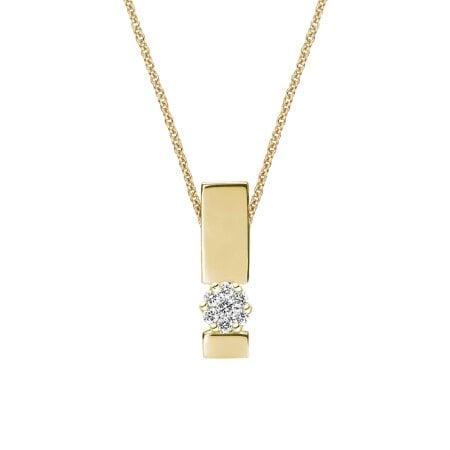 Juwelier Kraemer Kette Diamant 375/ - Gold – zus. ca. 0,10 ct