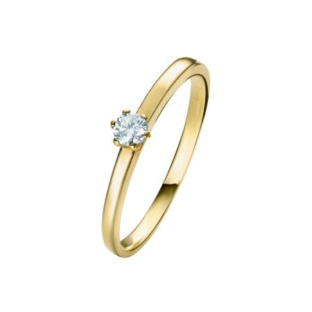 Juwelier Kraemer Ring Diamant 585/ - Gold – ca. 0,08 ct – 52 mm