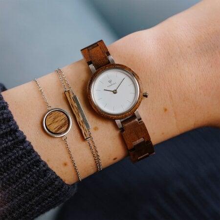 Kerbholz Uhr Matilda Walnut – WATWMAT9344