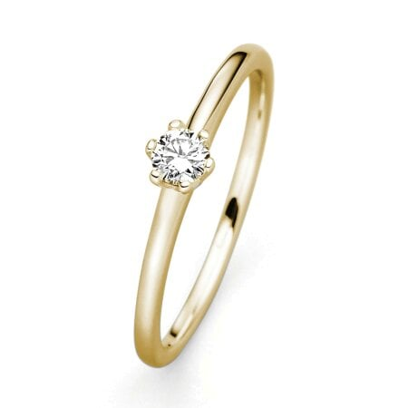 Juwelier Kraemer Ring Diamant 585/ - Gold – ca. 0,15 ct – 52 mm