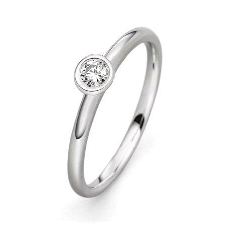 Juwelier Kraemer Ring Diamant 585/ - Gold – ca. 0,15 ct – 52 mm